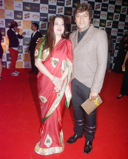 Aadesh Shrivasvata with wife