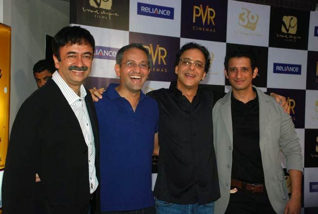Raju Hirani, Vidhu Vinod Chopra and Sharman Joshi