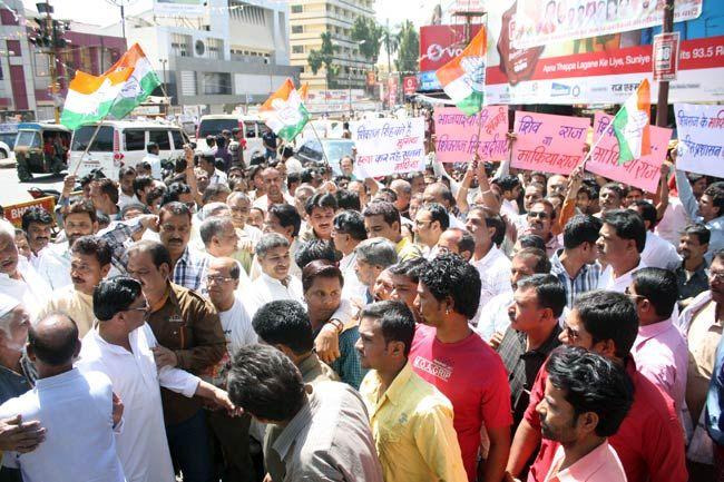 Protest against IPS officer's killing