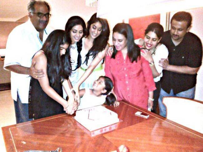 Sridevi with her family and friends