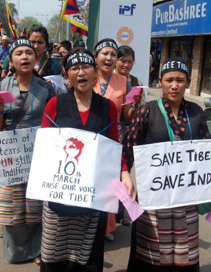 Activists of Tibetan Solidarity Committee