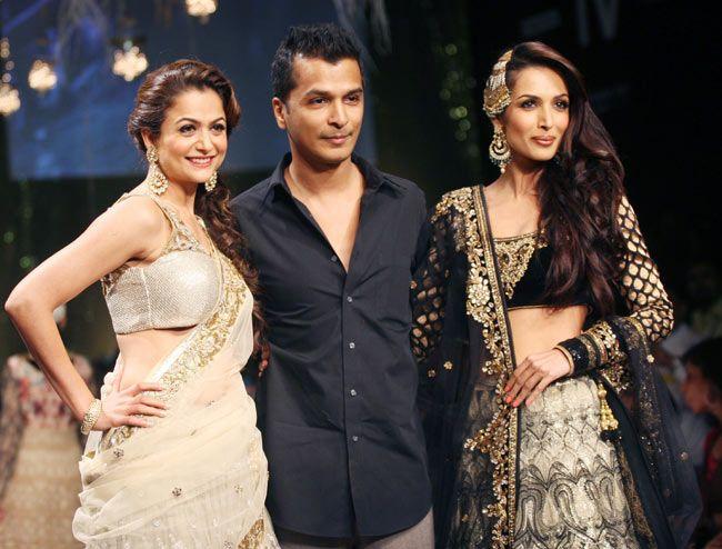 Malaika Arora Khan and Amrita Arora walked the ramp for designer Vikram Phadnis