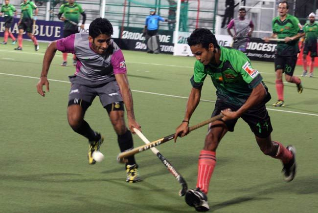World Series Hockey match between Bhopal Badshahs and Chennai Cheetahs