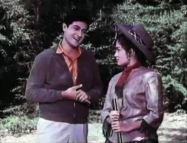 Joy Mukherjee in a still from Ziddi