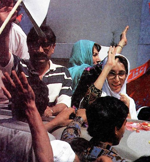 Benazir Bhutto and Asif Ali Zardari