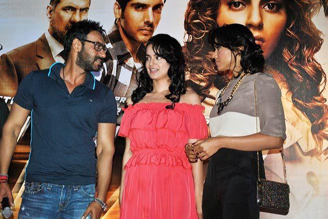 Ajay Devgan, Kangna Ranaut and Sameera Reddy