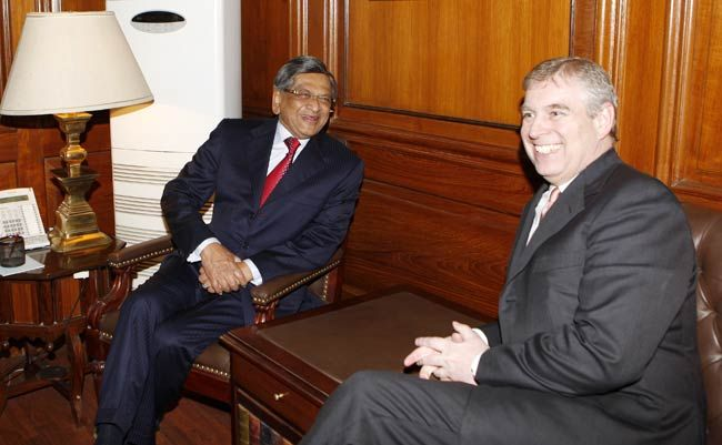 S.M. Krishna with Prince Andrew