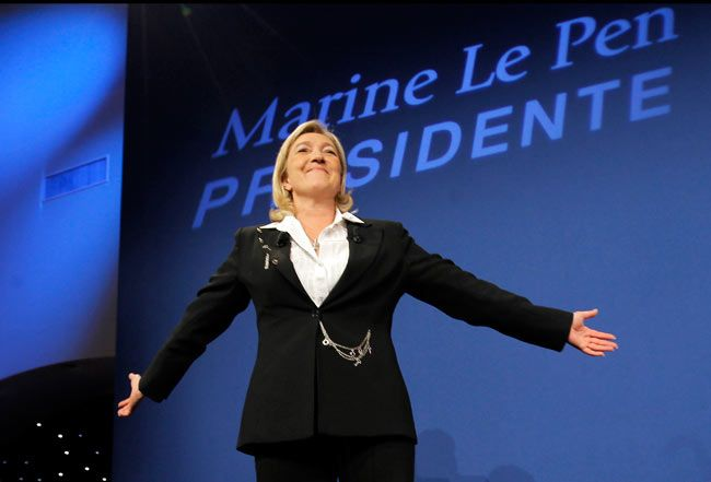 National Front Party presidential candidate Marine Le Pen