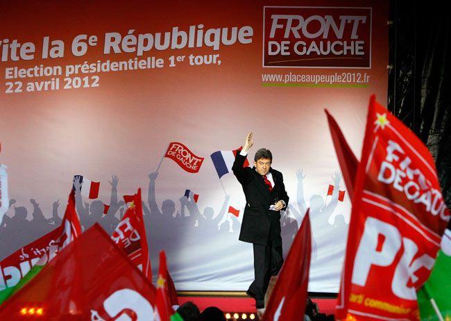 French Front De Gauche far-left candidate Luc Melenchon