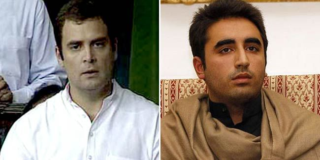Rahul Gandhi (left) and Bilawal Bhutto Zardari