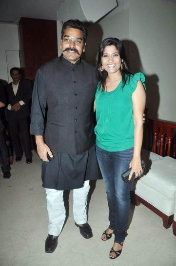 Renuka Shahane with her husband