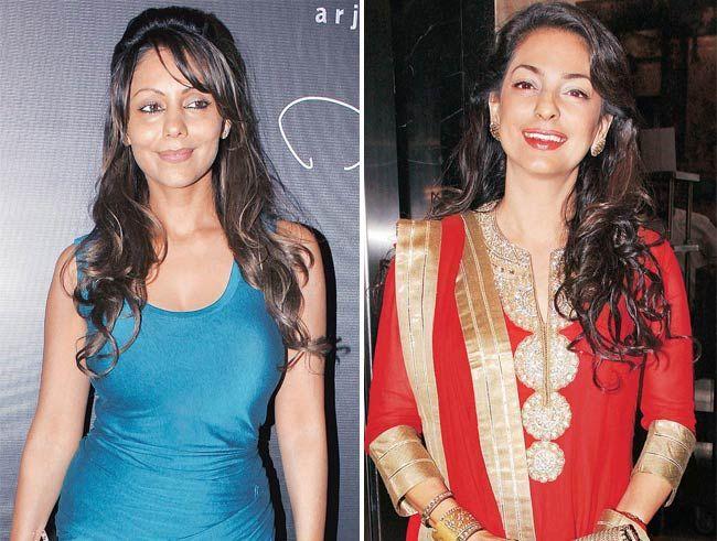 Gauri Khan (left) and Juhi Chawla