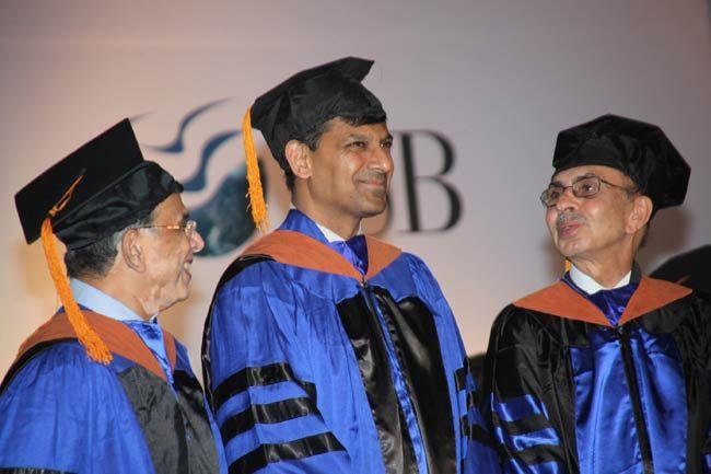 Raghuram Rajan, Adi Godrej with Ajit Rangnekar