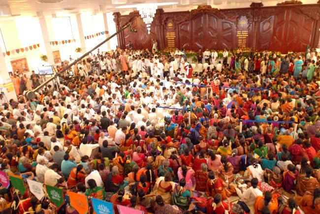 Devotees at ISKCON temple