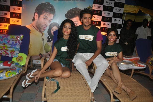 Riteish Deshmukh, Sarah Jane Dias and Neha Sharma