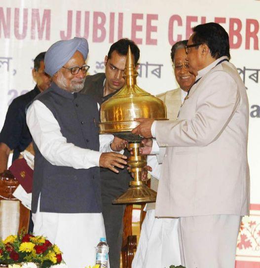 Manmohan Singh and Pranab Gogoi
