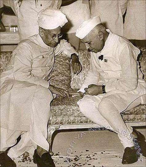 Dr Sir Sarvepalli Radhakrishnan with Pandit Nehru