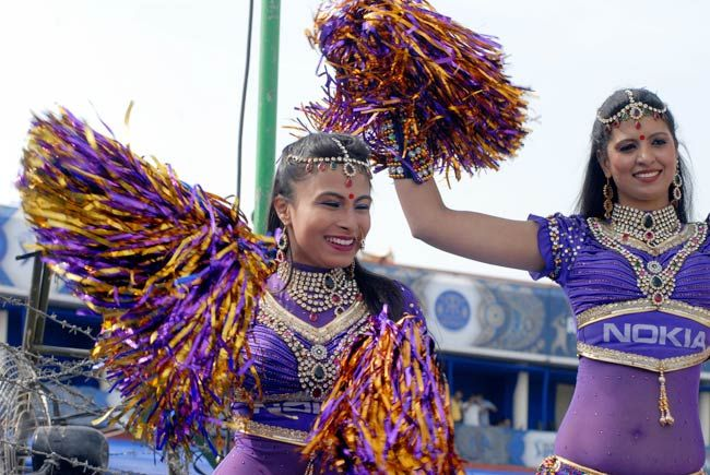 Cheerleaders perform ahead of RR vs KKR clash in Jaipur