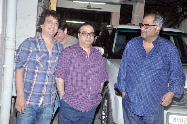 Sajid Nadiadwala, Rajkumar Santoshi and Boney Kapoor
