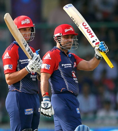Virender Sehwag and Ross Taylor
