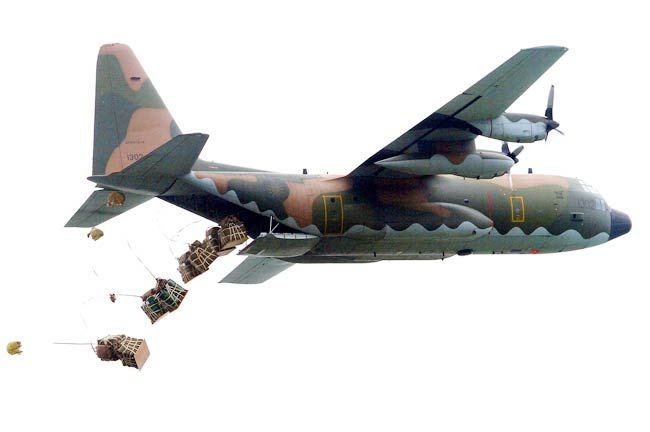 C-130 cargo plane