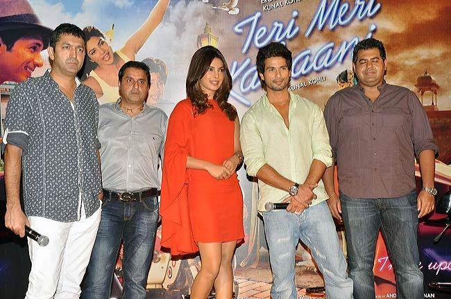 Shahid Kapur, Priyanka Chopra, Kunal Kohli, Sunil Lulla and Vicky Bahri