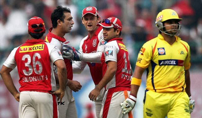 KXIP players and CSK's Suresh Raina