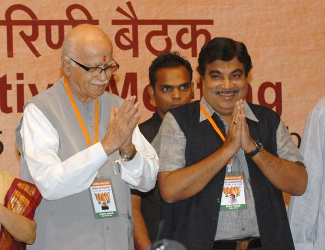 L.K. Advani and Nitin Gadkari