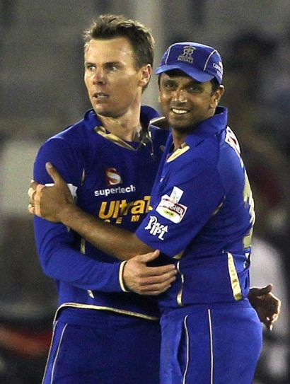 Rahul Dravid and Johan Botha