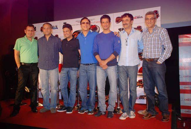 Sharman Joshi, Vidhu Vinod Chopra, Bhushan Kumar, Rajesh Mapuskar and Raju Hirani