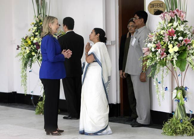 Mamata Banerjee and Hillary Clinton