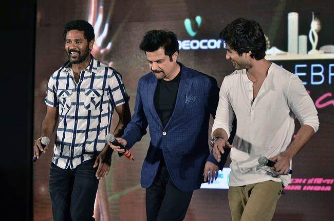 Shahid Kapoor, Prabhu Deva and Anil Kapoor