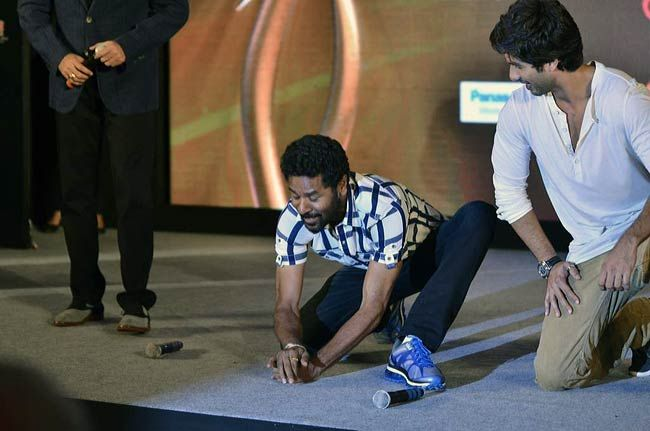 Shahid Kapoor and Prabhu Deva
