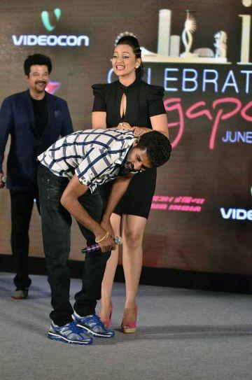 Sonakshi Sinha, Prabhu Deva and Anil Kapoor