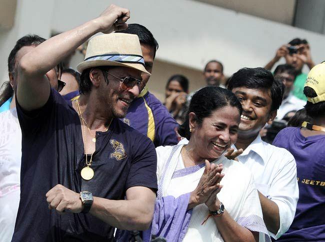 Mamata Banerjee with Shah Rukh Khan