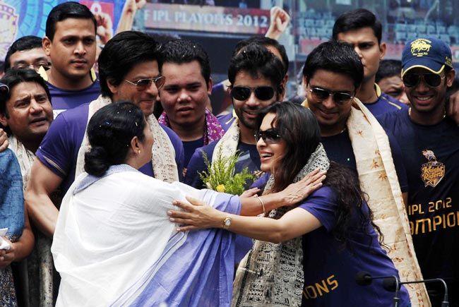 Juhi Chawla with Mamata Banerjee