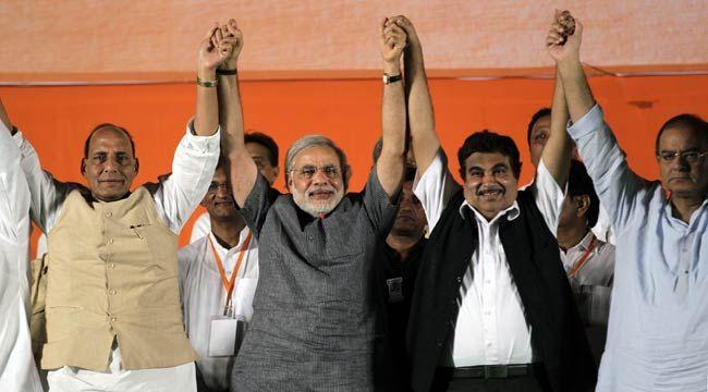 Rajnath Singh, Narendra Modi,Nitin Gadkari, Arun Jaitley