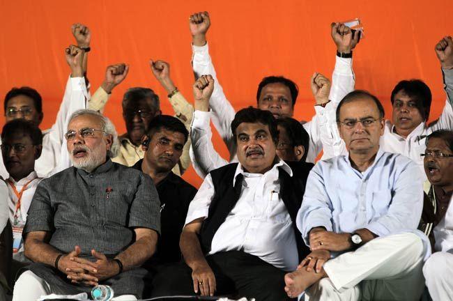 Narendra Modi, Nitin Gadkari, Arun Jaitley