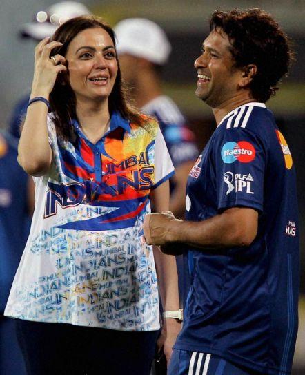 Nita Ambani and Sachin Tendulkar
