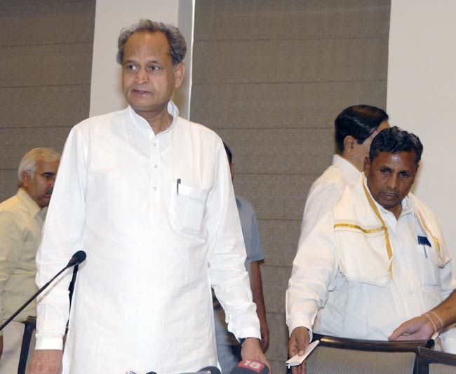 Ashok Gehlot and K.H. Muniyappa