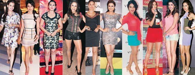 Dia Mirza, Priyanka Chopra, Sonakshi Sinha, Veena Malik, Kareena Kapoor, Parineeti Chopra, Bipasha Basu, Neha Dhupia, Deepika Padukone and Nargis Fakhri