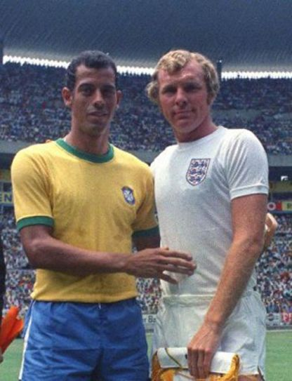 Bobby Moore (right)