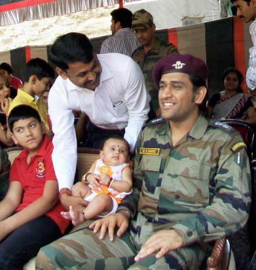 Mahendra Singh Dhoni with children