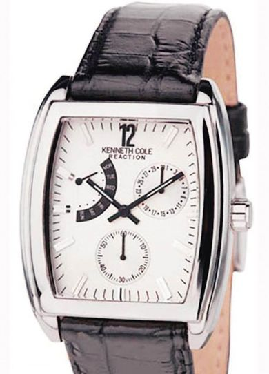 Kenneth Cole leather strap watch