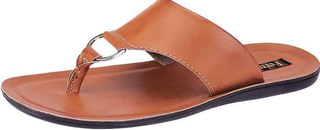 Tan slippers