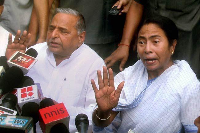 Mulayam Singh Yadav and Mamata Banerjee