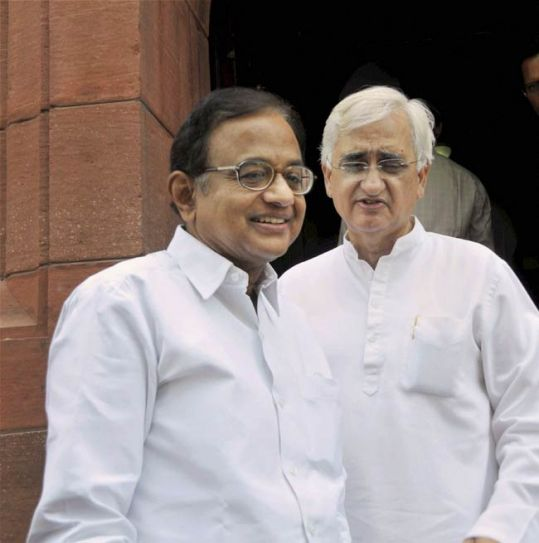 P. Chidambaram and Salman Khurshid