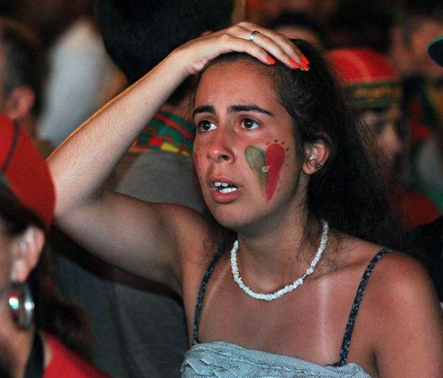 A Portuguese soccer fan