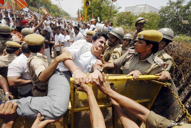 BJP's jail bharo agitation