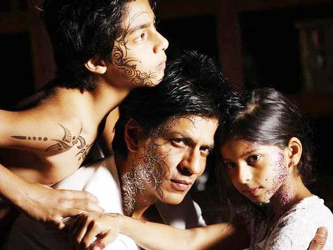 Shah Rukh Khan with his daughter Suhaana